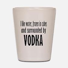 vodka humor Shot Glass
