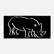 Black Rhino Beach Towel