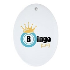 Bingo King Ornament (Oval)