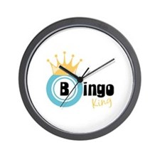Bingo King Wall Clock
