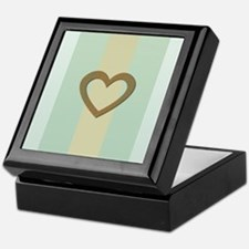 Cute Gold Heart Keepsake Box
