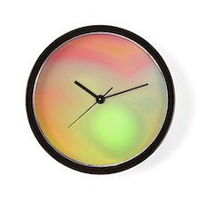 Cloudy Tie Dye Wall Clock