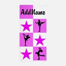 Pretty Pink Skater Beach Towel