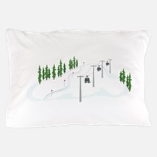 Ski Lift Pillow Case