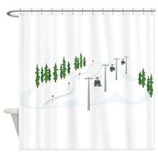 Ski Lift Shower Curtain