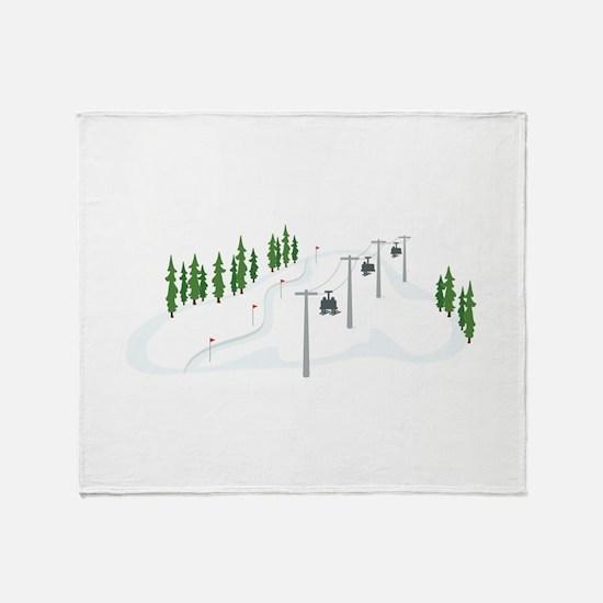 Ski Lift Throw Blanket