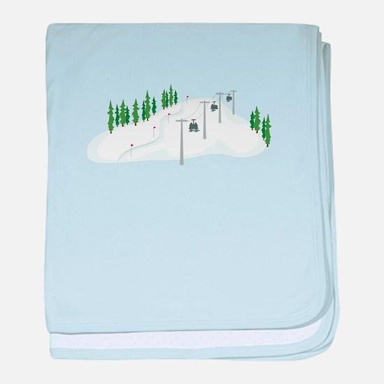 Ski Lift baby blanket