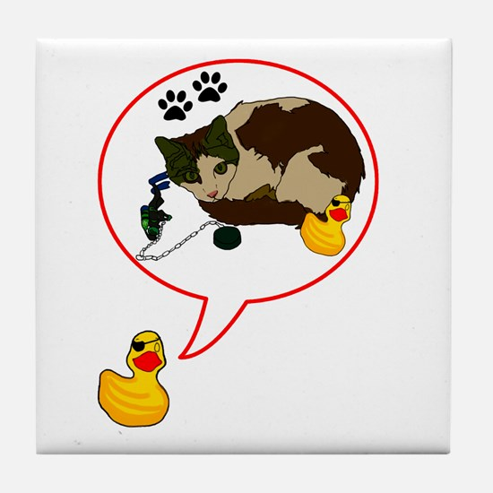 Duckie Says Tile Coaster
