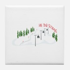 Hit The Slopes Tile Coaster