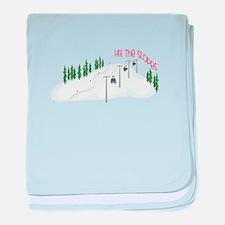 Hit The Slopes baby blanket