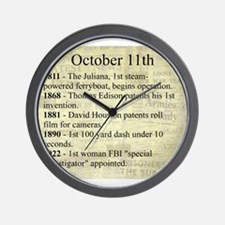October 11th Wall Clock