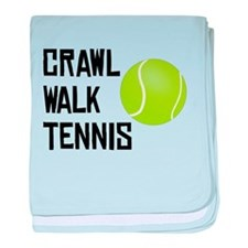 Crawl Walk Tennis baby blanket