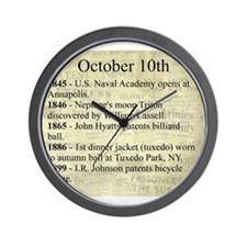 October 10th Wall Clock