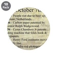 """October 7th 3.5"""" Button (10 pack)"""