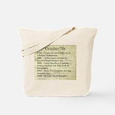 October 7th Tote Bag