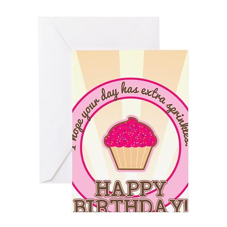 Extra Sprinkles Birthday Greeting Card
