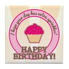 Extra Sprinkles Birthday Tile Coaster