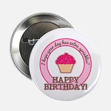"Extra Sprinkles Birthday 2.25"" Button"