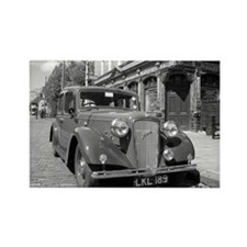 Classic car and English Pub scene Rectangle Magnet