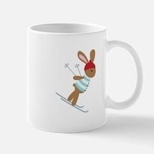 Skiing Bunny Mugs