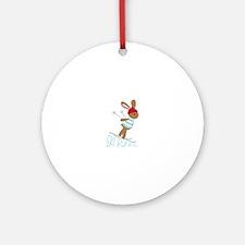 Ski Bunny Ornament (Round)