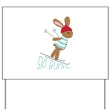 Ski Bunny Yard Sign