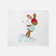 Ski Bunny Throw Blanket