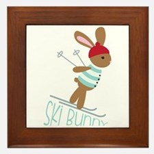 Ski Bunny Framed Tile