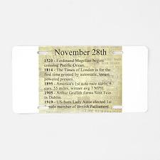 November 28th Aluminum License Plate
