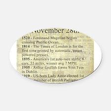 November 28th Oval Car Magnet