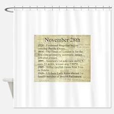 November 28th Shower Curtain