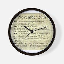 November 28th Wall Clock