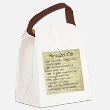 November 27th Canvas Lunch Bag