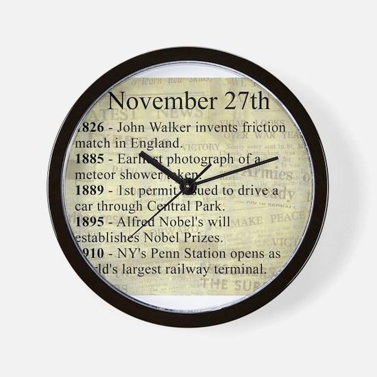 November 27th Wall Clock