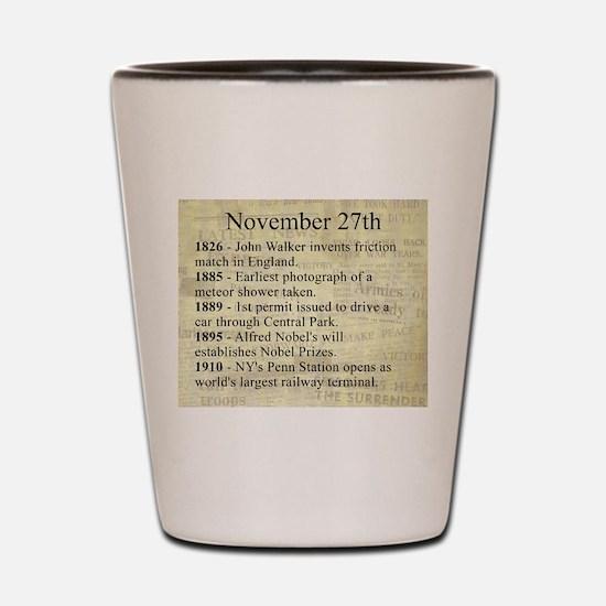 November 27th Shot Glass