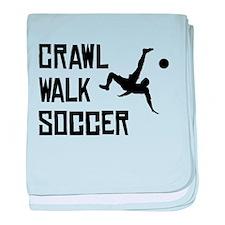 Crawl Walk Soccer baby blanket