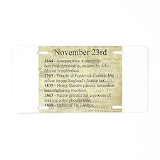 November 23rd Aluminum License Plate