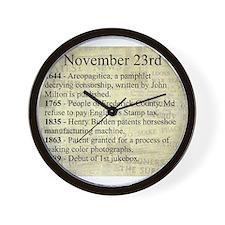 November 23rd Wall Clock