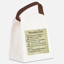 November 22nd Canvas Lunch Bag