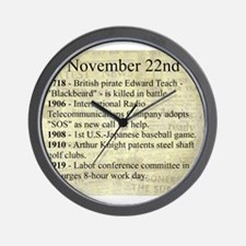 November 22nd Wall Clock