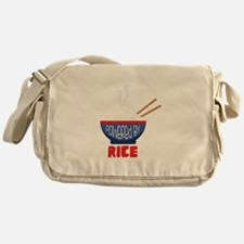 Powered By Rice Messenger Bag