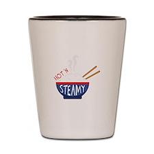 Hot N Steamy Shot Glass