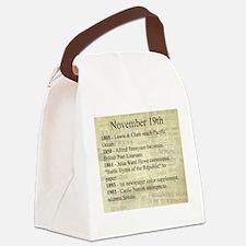 November 19th Canvas Lunch Bag