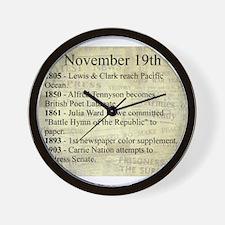 November 19th Wall Clock