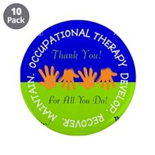 "OT Thank You cards 3 3.5"" Button (10 pack)"