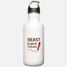 Funny Beast or Best English Teacher Sports Water B