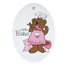 Bear Little Baker Ornament (Oval)