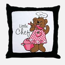Bear Little Chef Throw Pillow