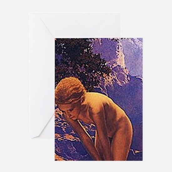 Maxfield Parrish Daybreak Greeting Cards