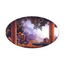 Maxfield Parrish Daybreak Oval Car Magnet